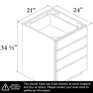 """Unfinished Oak 21"""" Drawer Base Cabinet"""
