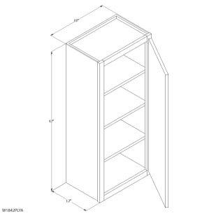 "Unfinished Oak 18""x42"" Wall Cabinet"