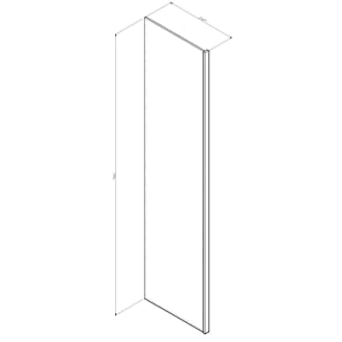"GHI Arcadia White 96"" Refrigerator Panel Drawing"