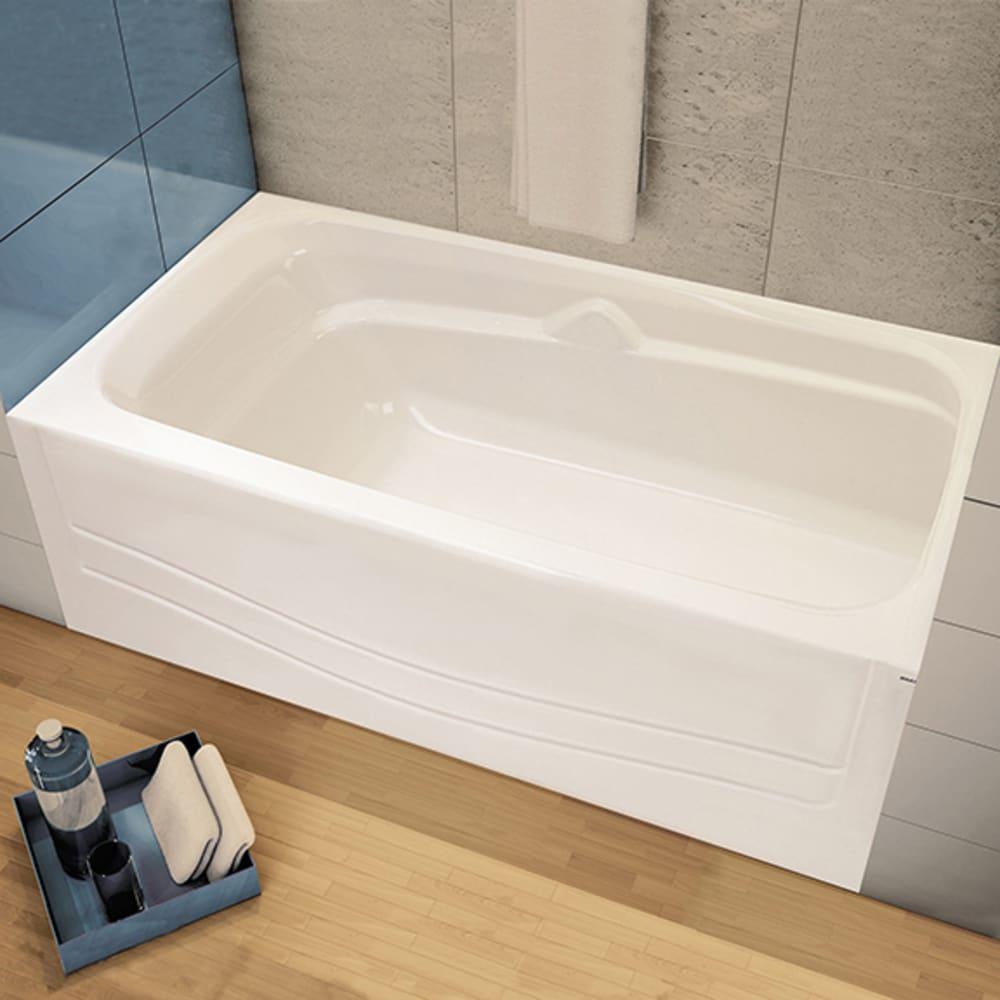 "Maax Avenue 60""x30"" White Soaker Tub with Right Drain"
