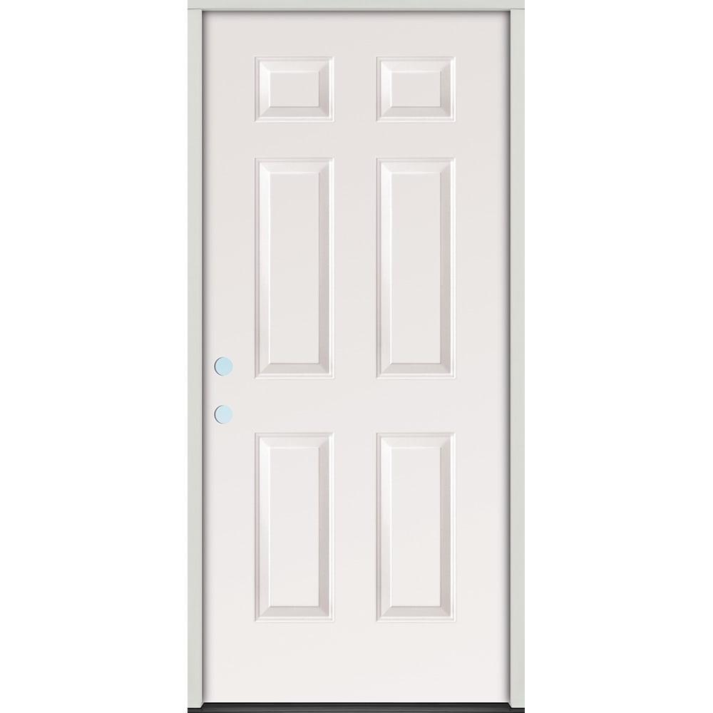45320065 32 Raised Panel Prehung Exterior Steel Door Unit  Right Hand