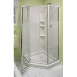 "Maax Himalaya 38"" NeoAngle White Shower"