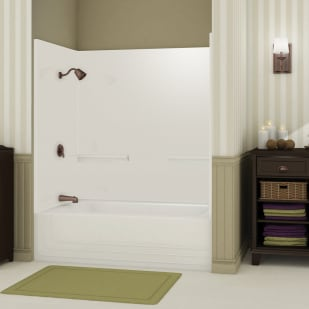 """Maax Monaco 60"""" Two Piece White Tub/Shower with Left Drain"""
