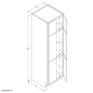 "Unfinished Oak 24"" Pantry Cabinet"