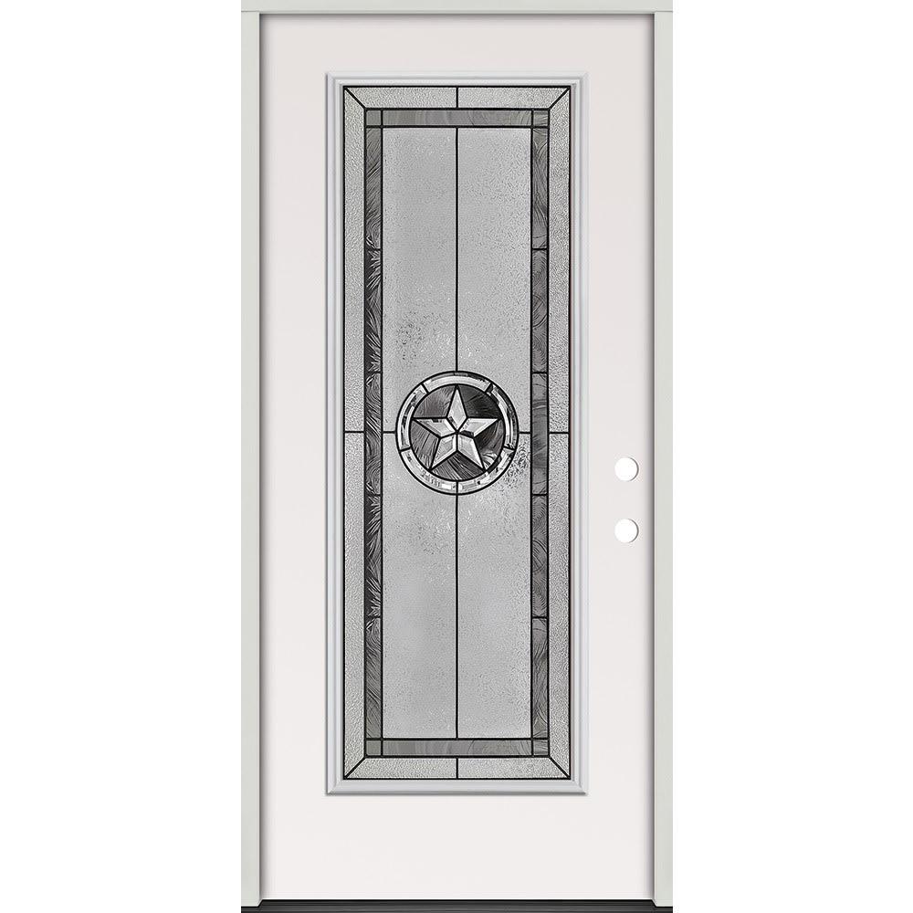 45320055 36 Full Lite Prehung Exterior Steel Door Unit  Left Hand