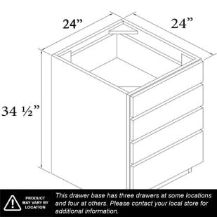 """Unfinished Oak 24"""" Drawer Base Cabinet"""