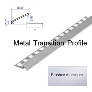 5552838 HomeLux Metal Reducer Flooring Trim