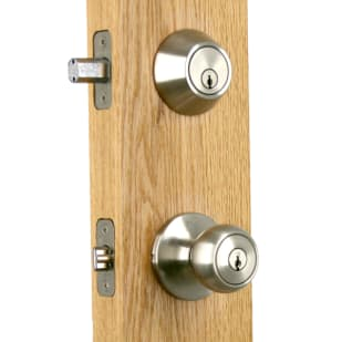 Newgard Ball Satin Nickel Entry Combo Knob/Deadbolt