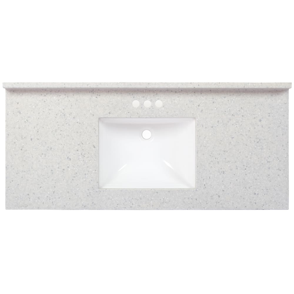 Charlotte Frost 49 X 22 Rectangle Vanity Top Home Outlet