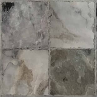 5524937 Traditions Cobblestone Grey 12x12 Self Stick Vinyl Tile