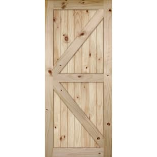 4520212 V Grooved Knotty Pine Barn Door Slab   K Bar Style