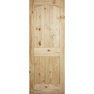 4520211 V Grooved Knotty Pine Barn Door Slab   2 Panel Arch Style