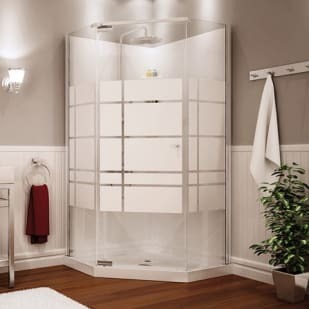 464899 Begonia 36 Frameless Neoangle Shower unit by Maax
