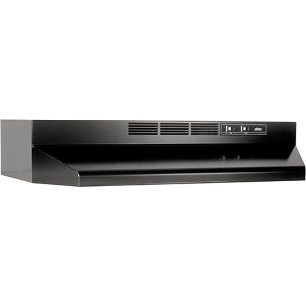 260385 Broan 30 Black Ductless Range Hood