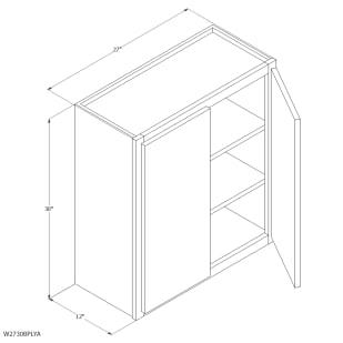 "Unfinished Oak 27""x30"" Wall Cabinet"