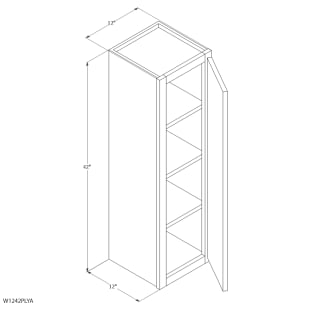 "Unfinished Oak 12""x42"" Wall Cabinet"