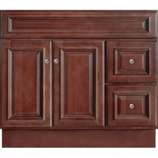 5024367 Savannah Merlot 36x21Two Drawer Two Door Vanity base