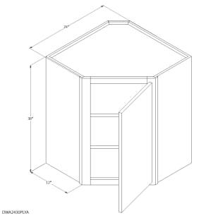 "Unfinished Oak 24""x30"" Corner Wall Cabinet"