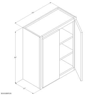 "Unfinished Oak 24""x30"" Wall Cabinet"