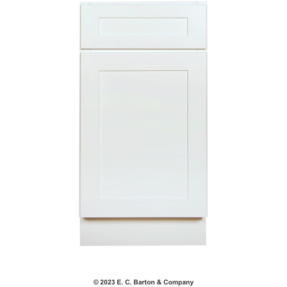 "GHI Arcadia White Shaker 18"" x 34.5"" Base Cabinet | Home ..."