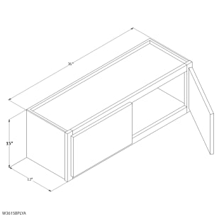 "Unfinished Oak 36""x15"" Wall Cabinet"