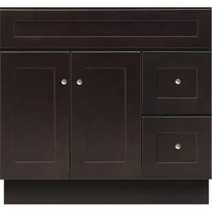 5024987 Mocha Espresso 36x21 Vanity Base With Drawers