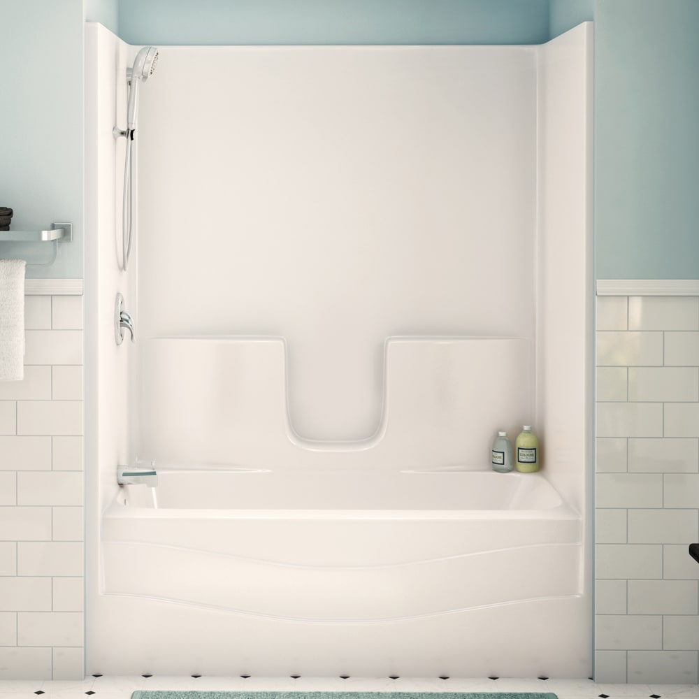 """Maax TS3060 60"""" White Tub Shower Unit with right drain"""