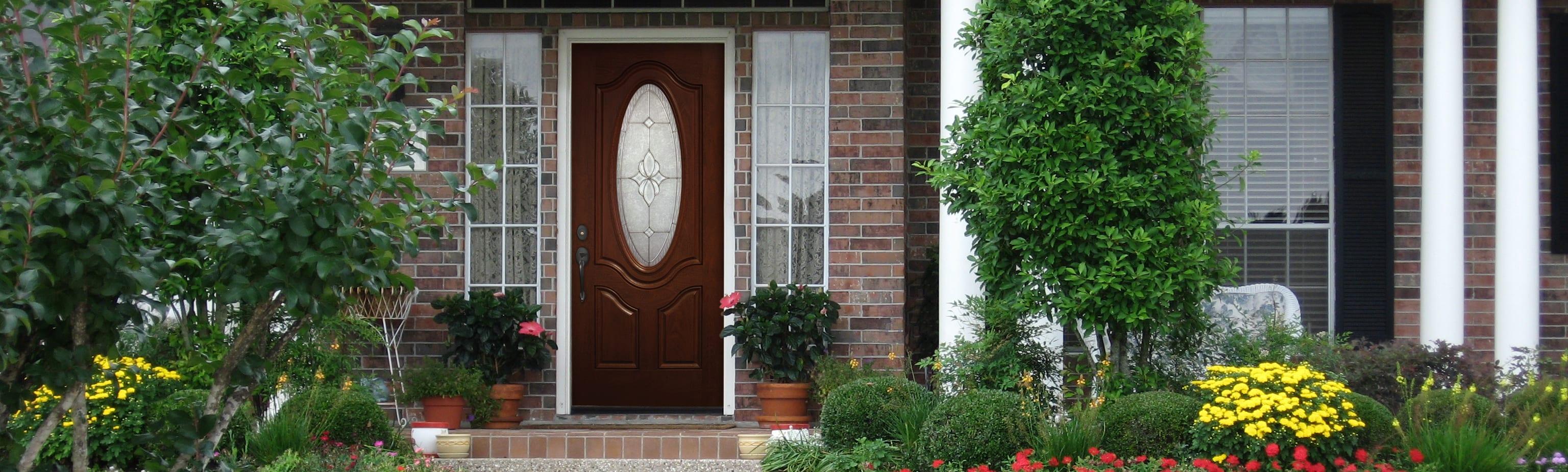 Entry Door Home Scene