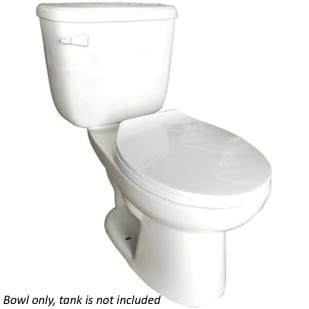 Huron White Round Front Low Consumption Toilet Bowl