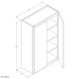 "Unfinished Oak 27""x42"" Wall Cabinet"