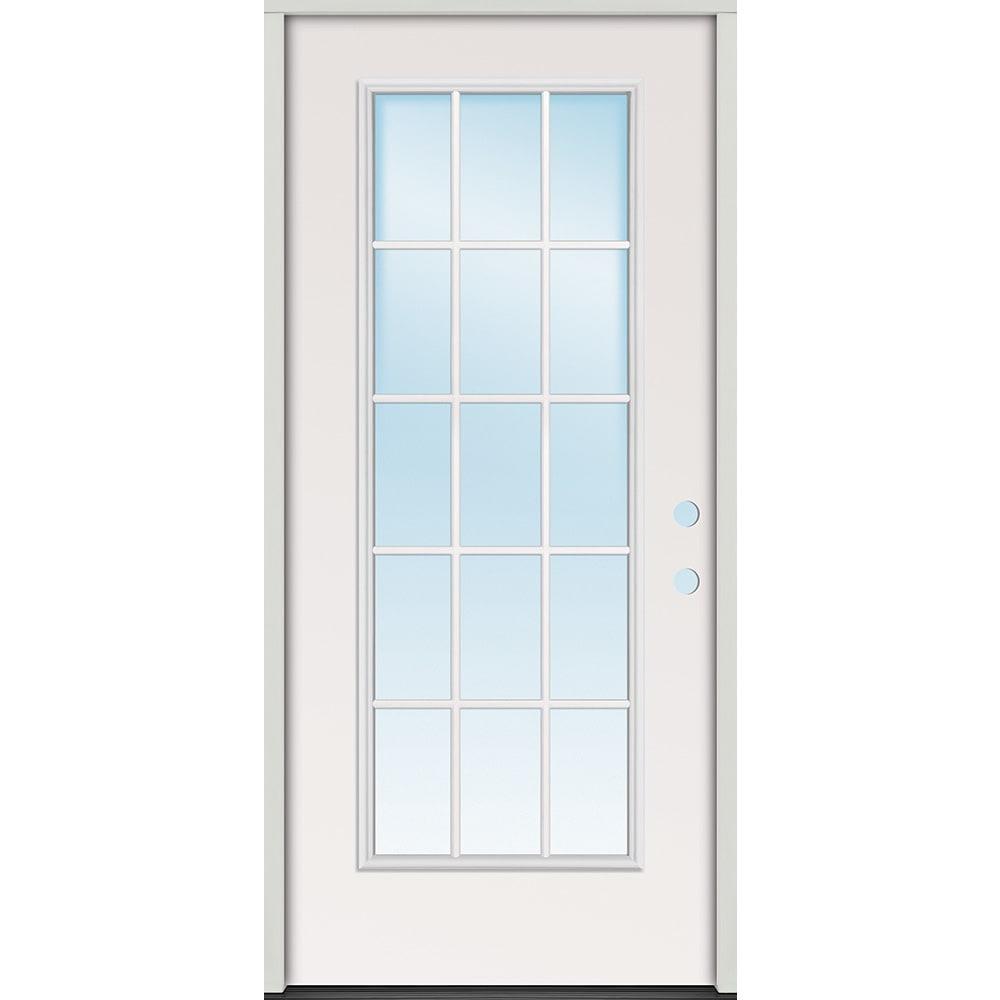 45320080 32 15 Lite Prehung Exterior Steel Door Unit  Left Hand