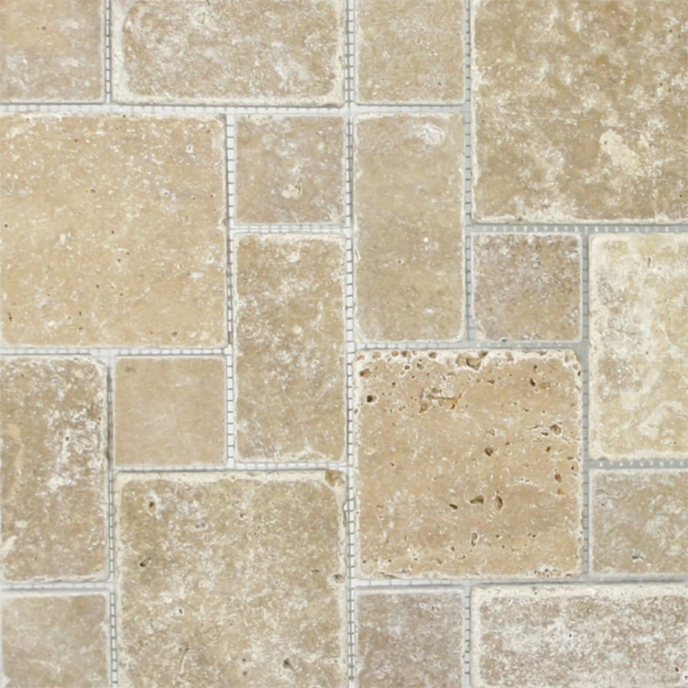 "Mosaic 12""x12"" Pattern Noce Travertine"