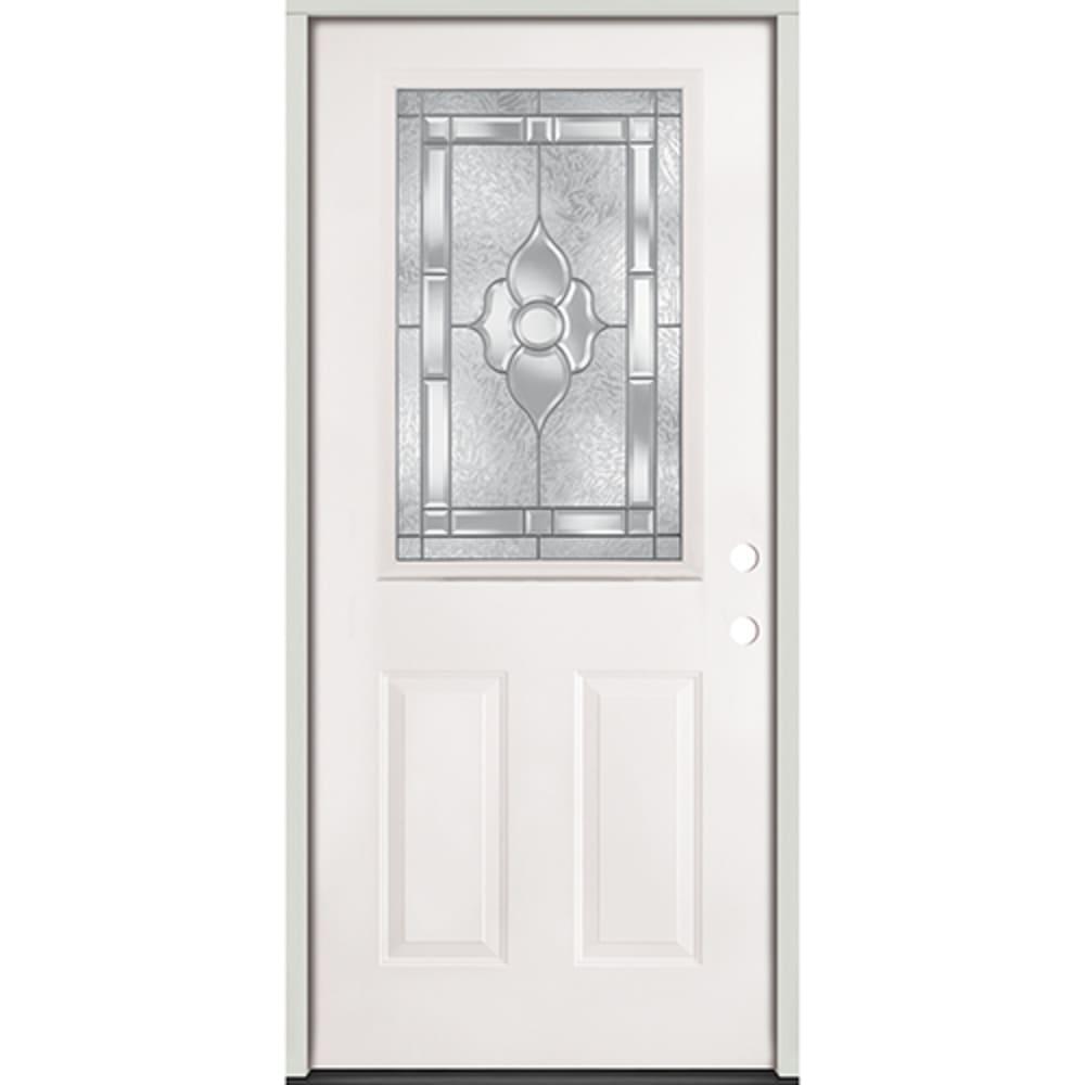 45320060 36 Half Lite Prehung Exterior Steel Door Unit  Left Hand