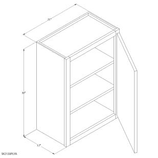 "Unfinished Oak 21""x30"" Wall Cabinet"
