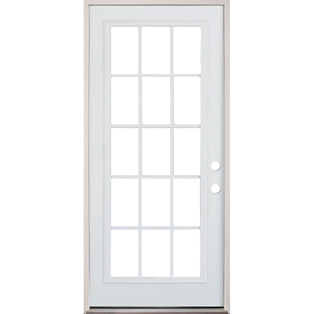 45320082 36 15 Lite Prehung Exterior Steel Door Unit  Left Hand