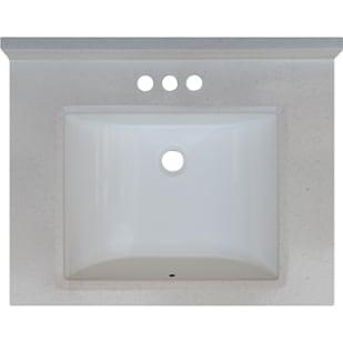 5020709 Snow Drift 25x19 Engineered Stone Granite Finish Vanity Top