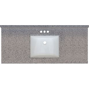 5020701 Rocky Trail 49x22 Engineered Stone Granite Finish Vanity Top