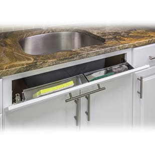 5049039 Sink Front Cabinet Storage Tipout Tray 11 wide Stainless Steel