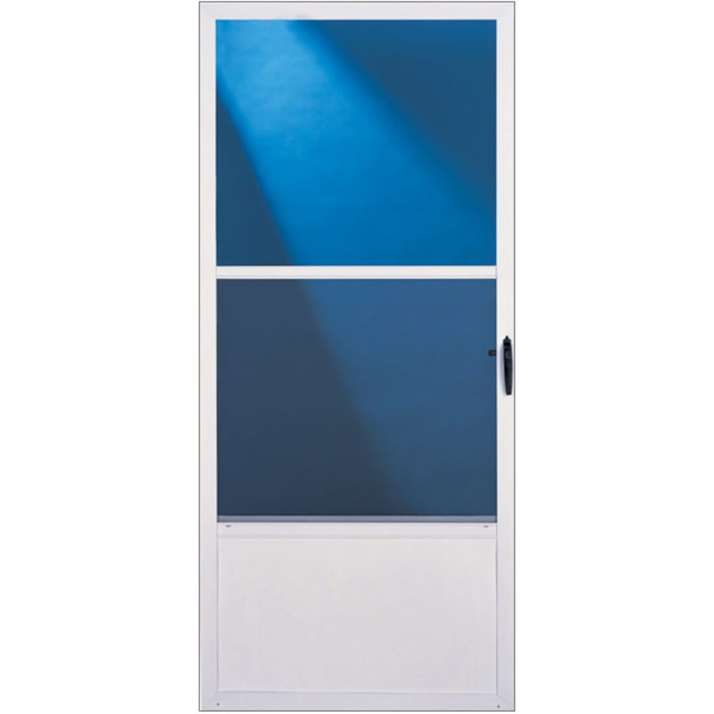 """36"""" Self-Storing Aluminum Storm Door"""
