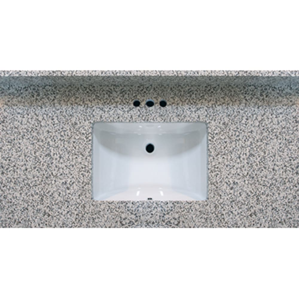 5020487 49x22 Pebble Beach Granite Vanity Top with Square Bowl