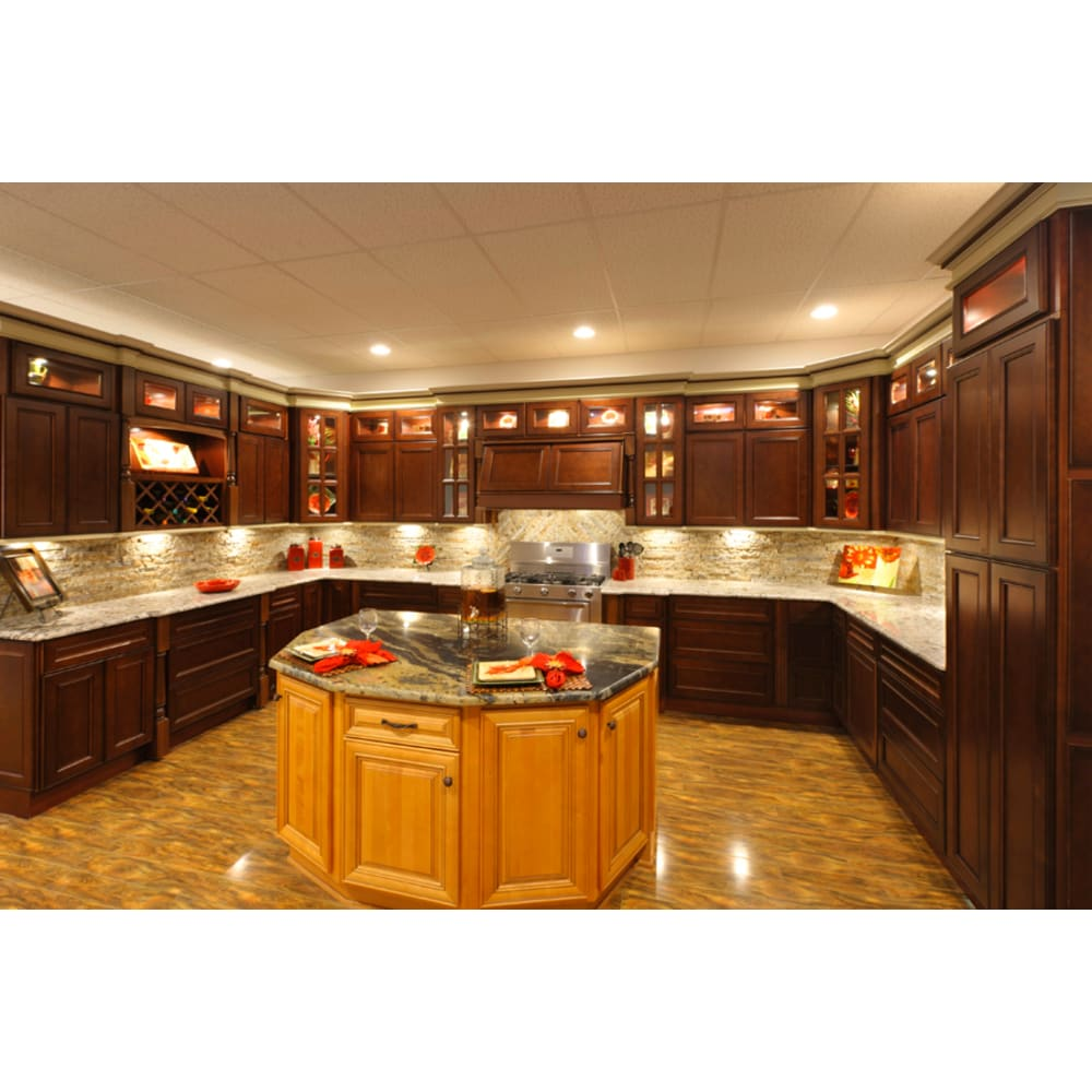 Faircrest York Cherry Shaker Kitchen Cabinets