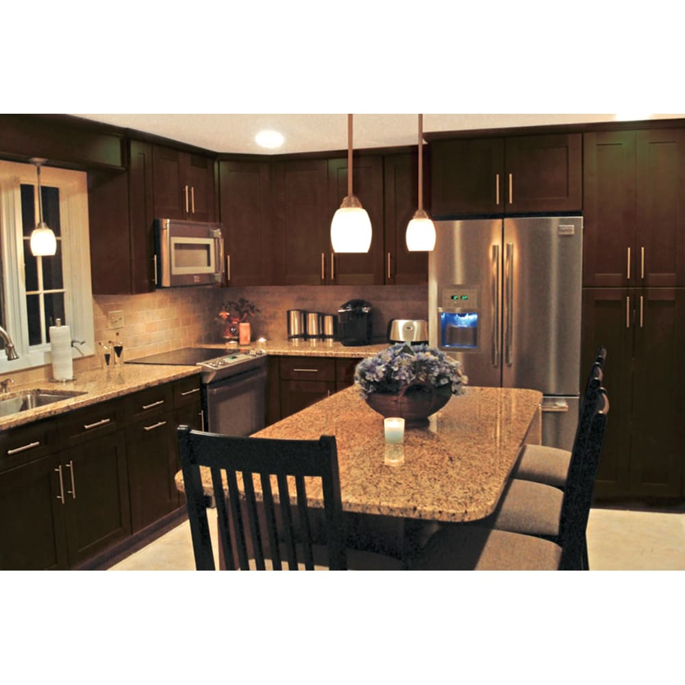 Nekc Coventry Walnut Shaker Cabinets Home Outlet