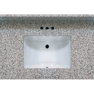 5020486 37x22 Pebble Beach Granite Vanity Top with Square Bowl
