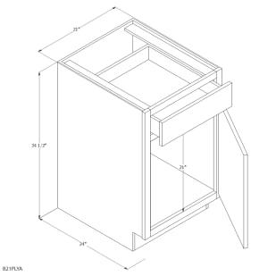 "Unfinished Oak 21"" Base Cabinet"