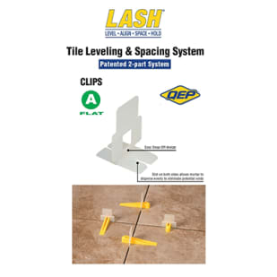 55010010 Lash Tile Leveling Clip    Part A of A B System