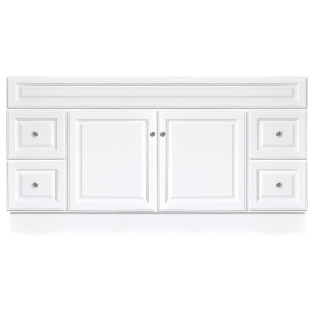 "North Timber Harbor White 60"" x 21"" Two-Door Vanity Base"