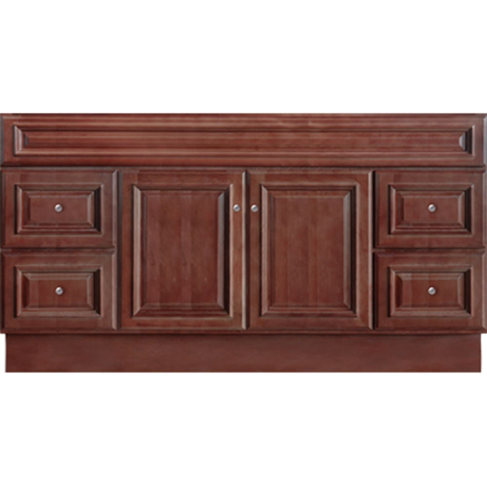 5024371 Savannah Merlot 60x21 Two Door Four Drawer Vanity base