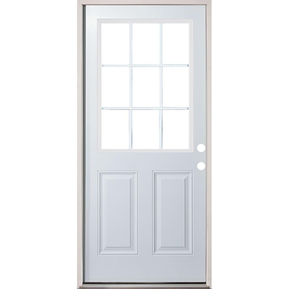 45320134 32 9 Lite Prehung Exterior Fiberglass Door Unit Left Hand