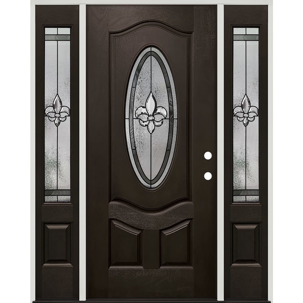 45320043 60 Prefinished  Prehung Fiberglass Exterior Door Unit  Left Hand