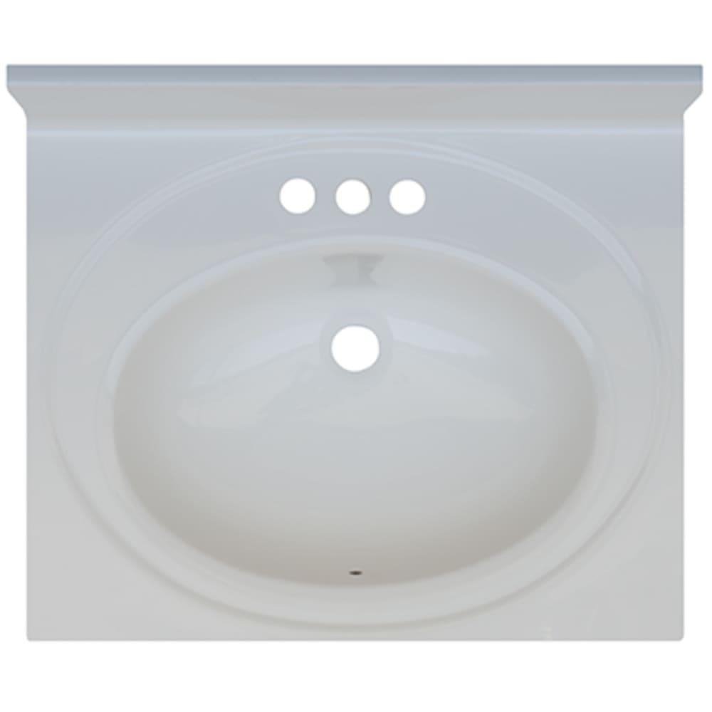 5020690 Solid White 19x17 Engineered Stone Vanity Top